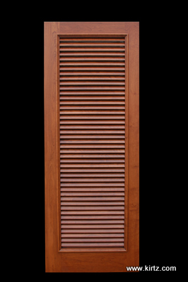 Cherry fixed louvered door 1 7/8\  louver & Plantation Shutters as Doors and Partitons - Kirtz Shutters ...
