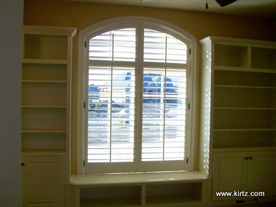 Arch Windows Plantation Shutters Kirtz Shutters Custom