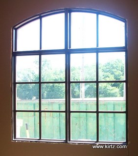The windows before hardwood shutters