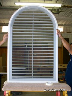 Plantation Shutter (backside) complete with insect screen