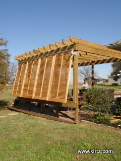 Bahama shutters provide more visibilty when open, by Kirtz Shutters