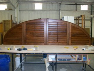 "This walnut shutter spanned over 136"" wide"