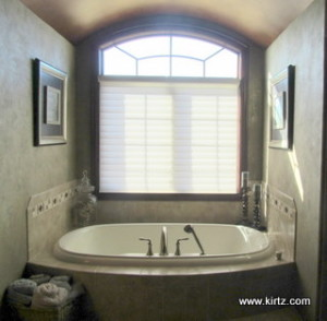 Eyebrow window with plantation shutters kirtz shutters