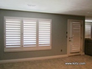 another after photo of shutters in craftsman style interior